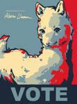 VOTE Albino Llama Poster by raikukitti