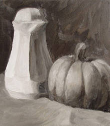 study: still life with pitcher by cloudsfall