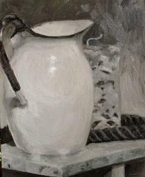 study: still life candle n jug by cloudsfall