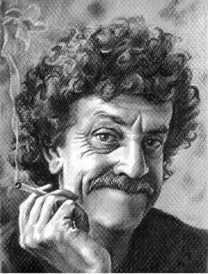 Kurt Vonnegut by cloudsfall
