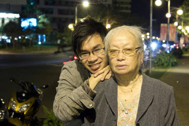 Me and my grandmon by Toshikun