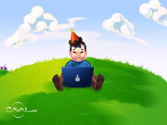 Mongolian kid by GARIDelf