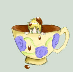 Iggy within a teacup (Preview) by Rikopamyupamyu