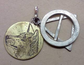 dingo therian pendant by wylieblais