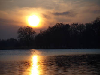 sunset at the lake by ThelemaDreamsArt