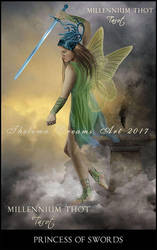 Princess of Swords MILLENNIUM THOT Tarot by ThelemaDreamsArt
