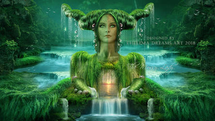 The Mossy Lady by ThelemaDreamsArt