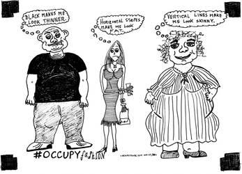 Occupy Fashion cartoon by amazingn3ss