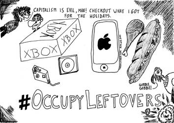 Occupy Leftovers cartoon by amazingn3ss
