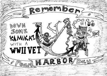 Remember Pearl Harbor Day cartoon by amazingn3ss
