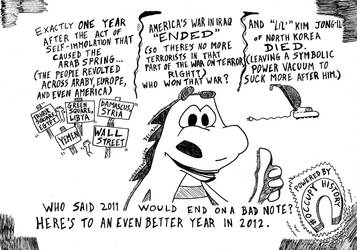 Occupy History Kim Jong-Il is dead cartoon by amazingn3ss