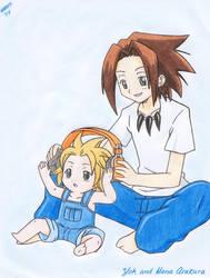 Yoh and Hana Asakura by Angel-Hikaru-chan