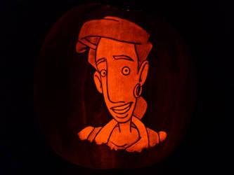 Curse of Monkey Island Pumpkin by ceemdee