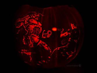 Doom II Pumpkin by ceemdee