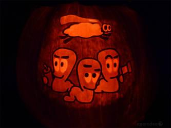 Worms Pumpkin by ceemdee