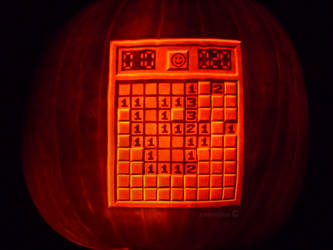 Minesweeper Pumpkin by ceemdee