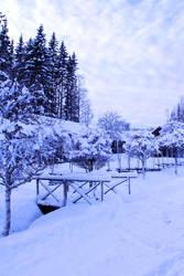 winter bridge stock 4 by conceptually