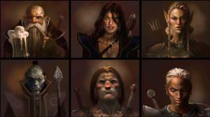 Dragon Rampage characters by tegehel