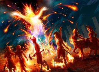 Magic the Gathering: Eidolon of the Great Revel by tegehel