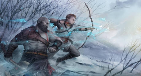 Father and son War of god by EdenChang