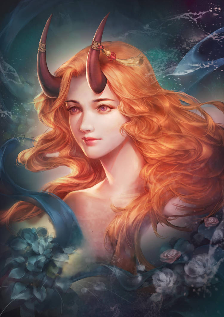 Horn girl by EdenChang