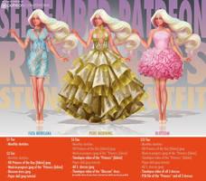 Shimmering dresses by Tsvetka