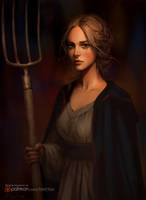 Medieval peasant woman by Tsvetka