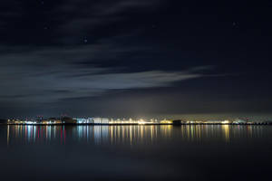 Airbus Finkenwerder at night by rtry