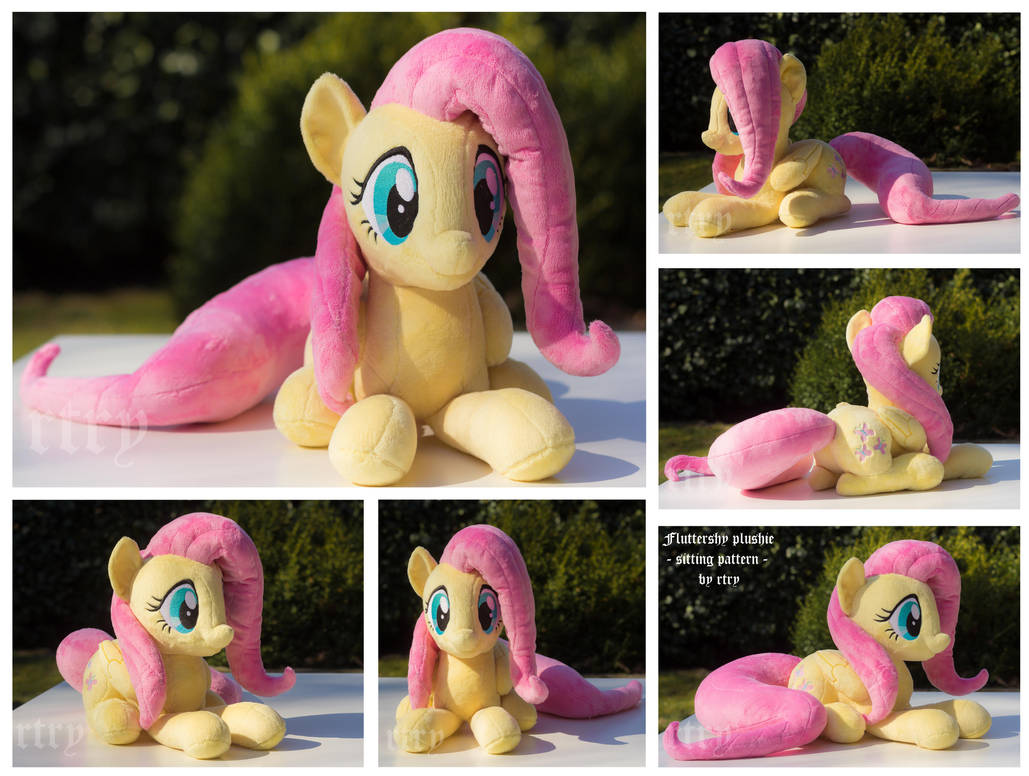 sitting Fluttershy Plushie by rtry