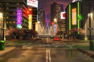 Background - Tokyo wewy comp by Chromattix