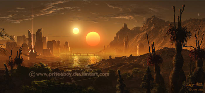 Watching the suns go down by Chromattix