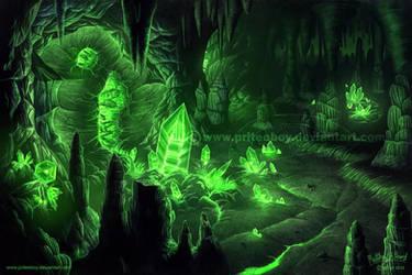 Commission - Green Gem Grotto by Chromattix