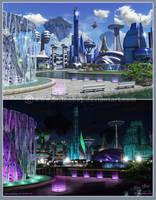 Commission: Bonre City by Chromattix