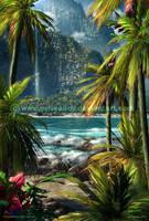 Parrots in Palms by Chromattix