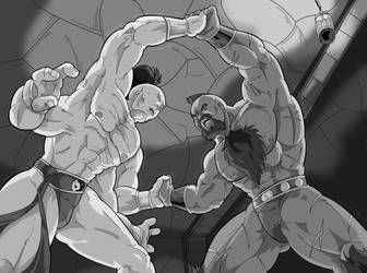 the Iron Kosak vs the Shokan Prince by mortalshinobi