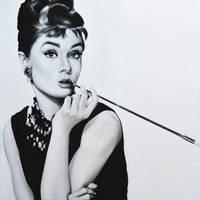 Audrey Hepburn by alexracu