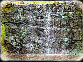 lovely waterfall somewhere in telford in woods by 4dpaul