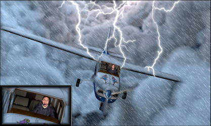 flying in very bad weather by 4dpaul