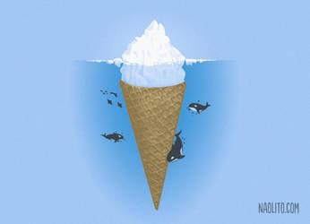 Hidden part of icebergs by Naolito