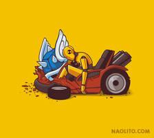Kart Crash Test by Naolito