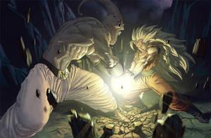 Goku vs Buu by Eleeron