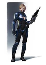 Cassie design idea for Mortal Kombat XL by Eleeron