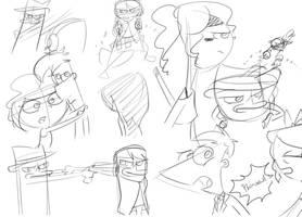 Random sketchs by DokiFanArt