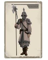 Player Card: The Soldier by dinfet
