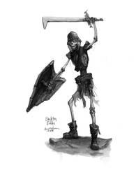Warrior from Skeleton Fields by dinfet