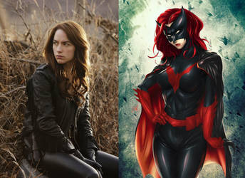 Melanie Scrofano as Batwoman by BlackBatFan