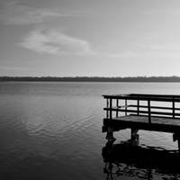 Lonely Pier -greyscale square- by sara-satellite