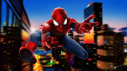 Spiderman + Youtube speedpaint by RowenHebing