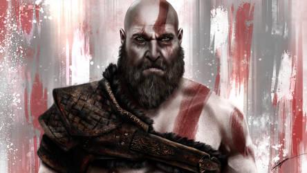 Kratos - God of War by RowenHebing