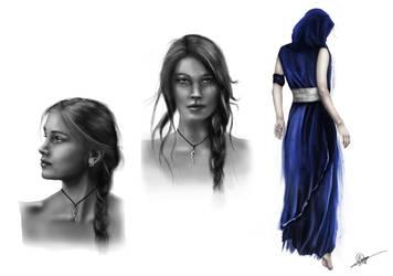 Aya character design (help me design her story!) by RowenHebing